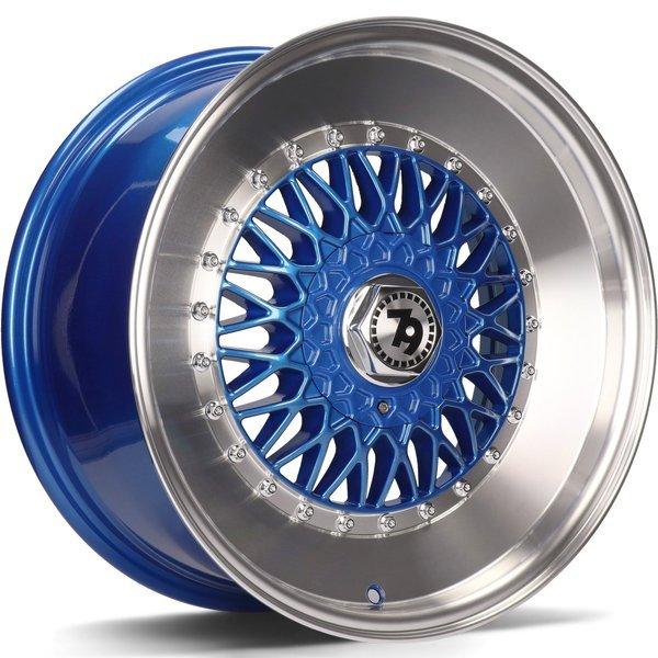79WHEELS SV-F hliníkové disky 7x15 4x100 ET30 Blue LP - Blue LP - Blue Lip Polish