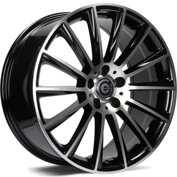 CARBONADO Performance hliníkové disky 8,5x19 5x112 ET35 Black Front Polished