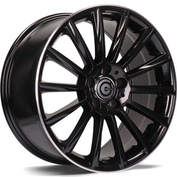 CARBONADO Performance hliníkové disky 9,5x20 5x112 ET45 Black Glossy Lip Polished