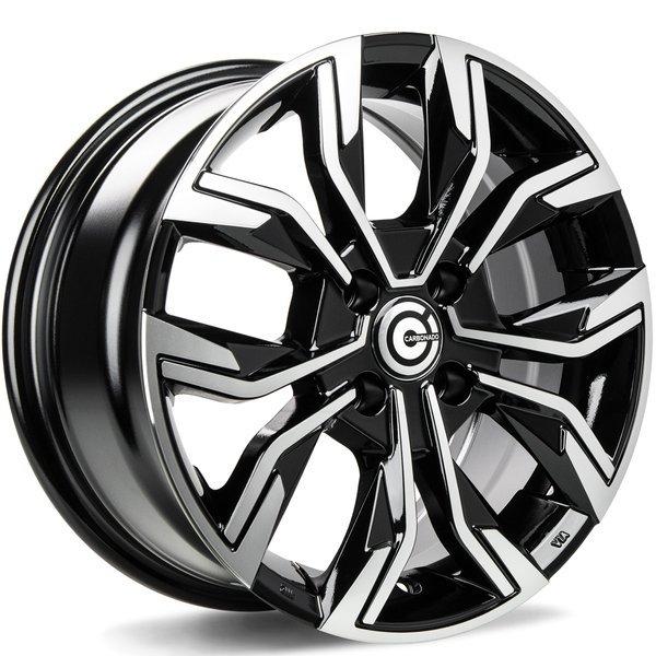 CARBONADO Price hliníkové disky 6,5x15 4x100 ET38 Black Front Polished