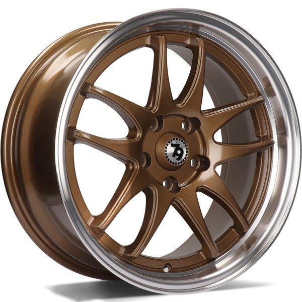 79WHEELS SV-I hliníkové disky 7x16 5x112 ET35 Bronze LP - Bronze Lip Polished