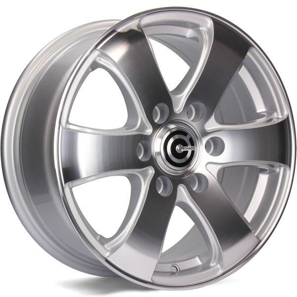 CARBONADO Mammuth  hliníkové disky 7x16 6x130 ET50 Silver Front Polished