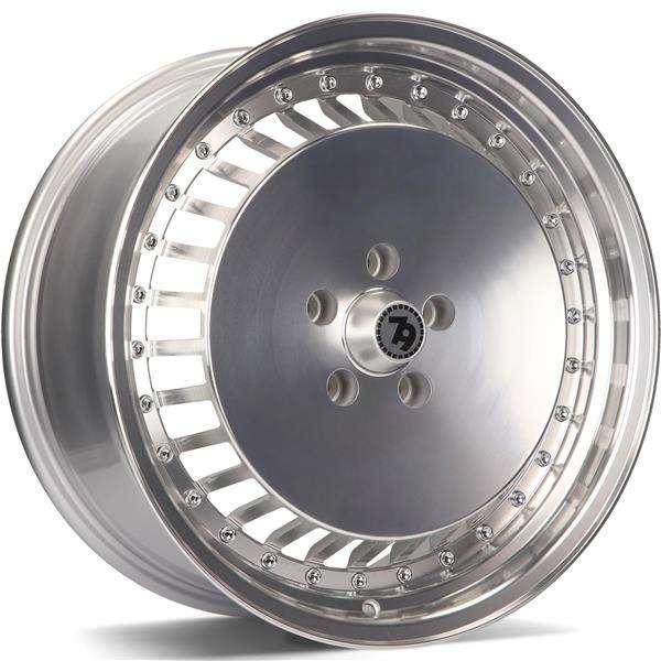 79WHEELS SV-G hliníkové disky 8x18 5x120 ET35 SFPLP - Silver Front Polished Lip Polished