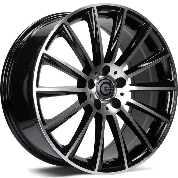 CARBONADO Performance hliníkové disky 8x17 5x112 ET35 Black Front Polished