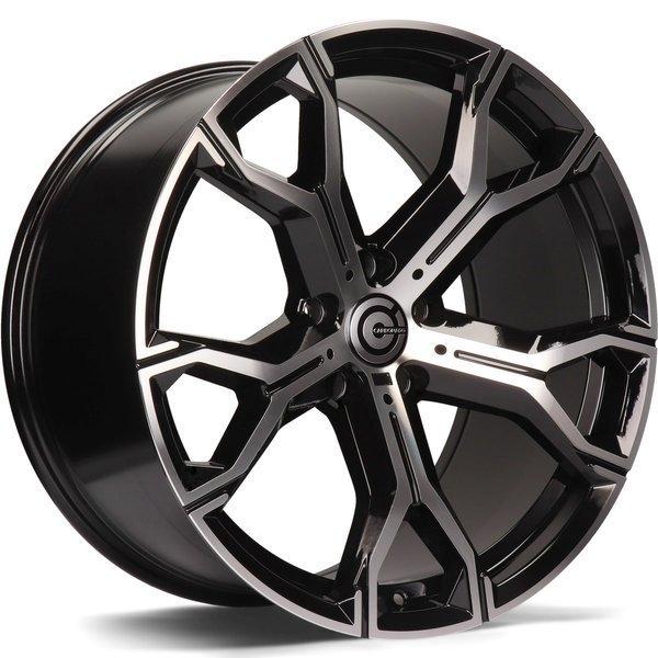 CARBONADO Ring hliníkové disky 10,5x20 5x112 ET40 Black Front Polished