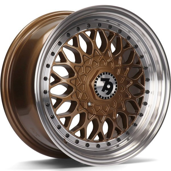79WHEELS SV-E hliníkové disky 7,5x17 5x112 ET35 Bronze LP - Bronze Lip Polished