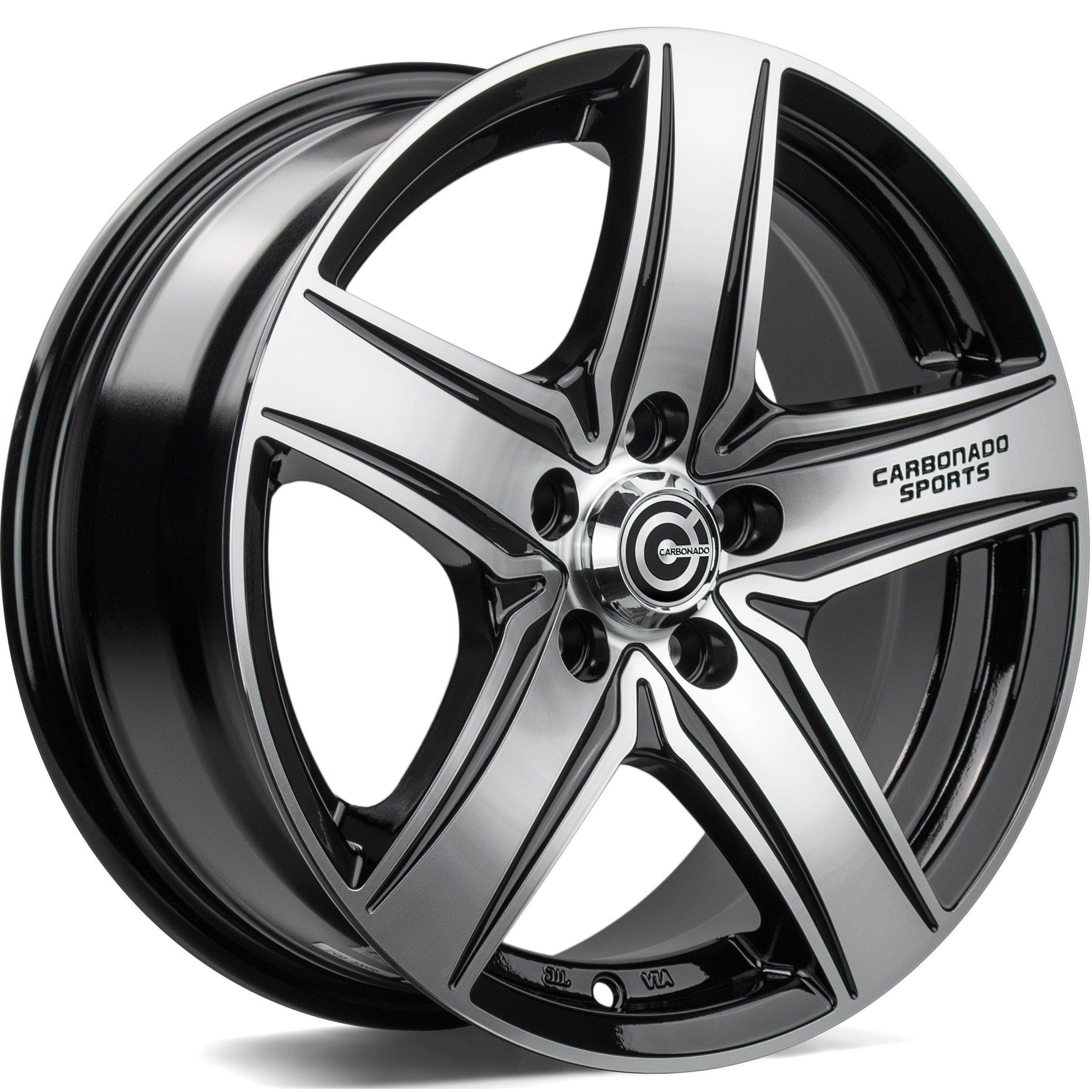 CARBONADO GTR Sports 1 hliníkové disky 6,5x15 5x112 ET38 Black Front Polished