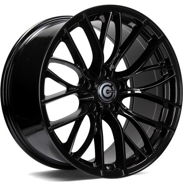 CARBONADO Shine hliníkové disky 9,5x19 5x120 ET40 Black Glossy
