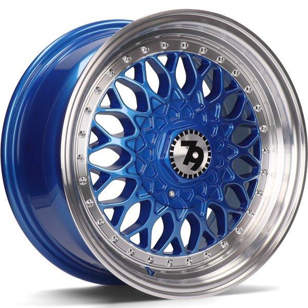 79WHEELS SV-E hliníkové disky 7x15 4x100 ET30 Blue LP - Blue LP - Blue Lip Polish