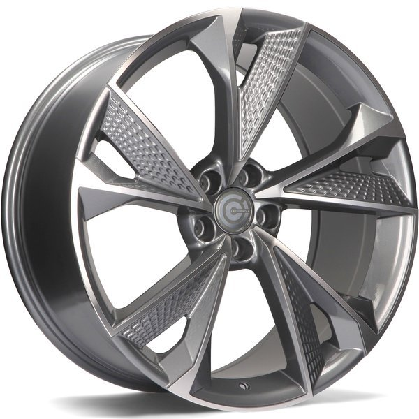 CARBONADO Luxury hliníkové disky 9,5x21 5x112 ET25 Anthracite Front Polished