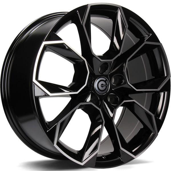 CARBONADO Beast  hliníkové disky 6,5x16 5x112 ET43 Black Front Polished