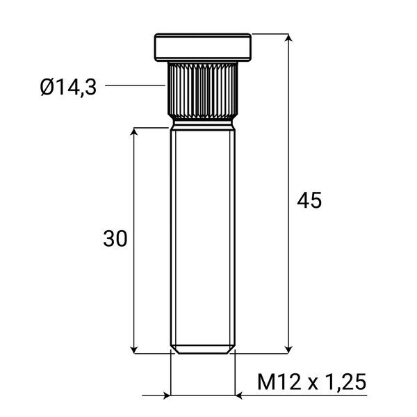 1,5 M12x1,25 Rennwagen Radmuttern Schrauben Mit Schl/üssel for Subaru L-Yune Color Name : Black, Specifications : M12x1.25 Bolzen 20 Teile//Satz Edelstahl 50mm M12