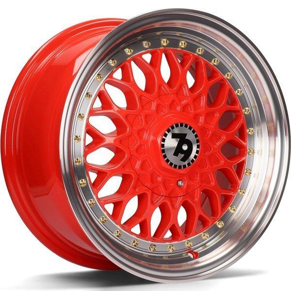 79WHEELS SV-E hliníkové disky 7,5x17 5x112 ET35 Red LP - Red Lip Polished