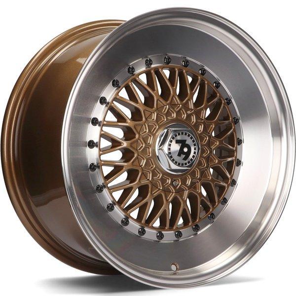 79WHEELS SV-F hliníkové disky 7x15 4x100 ET30 Bronze LP - Bronze Lip Polished