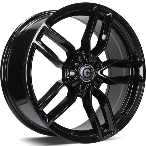 CARBONADO Premium hliníkové disky 8x18 5x112 ET40 Black Glossy