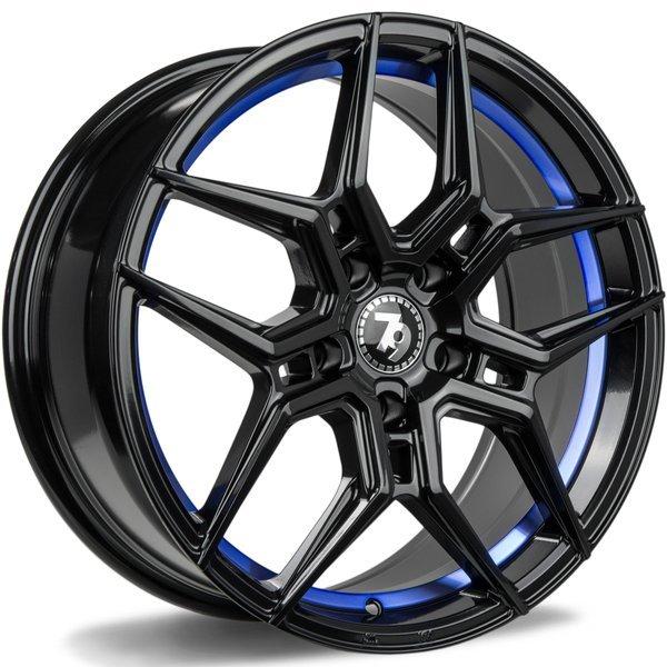 79WHEELS SV-B hliníkové disky 8x18 5x120 ET35 BGBIL - Black glossy blue inner lip