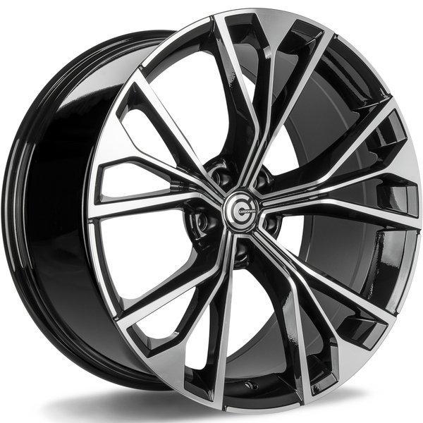 CARBONADO Competition hliníkové disky 10x21 5x112 ET20 Black Front Polished
