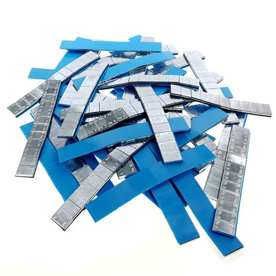 Adhesive weights for aluminum wheels Edgy Slim - 60g (12x5g / galvanized / wide tape) - 400 pcs. - Stix