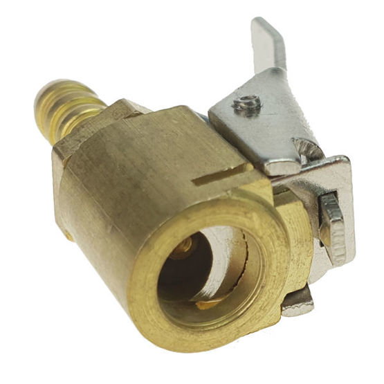 Air chuck with clip, brass for 8mm hose - Stix