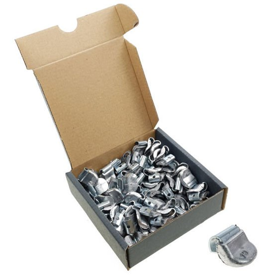 Clip on weights for steel wheels SPS STD PB/S (10 g, lead) - 100 pcs. - Stix