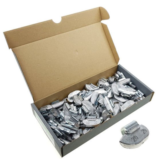Clip on weights for steel wheels SPS STD PB/S (20 g, lead) - 100 pcs. - Stix