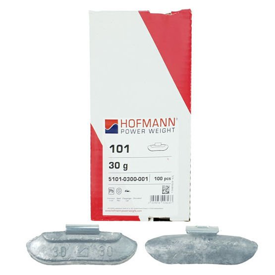 Clip on weights for steel wheels STD PB/S (30 g, lead) - 100 pcs. - Hofmann