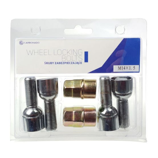 Lock bolts for ally wheels C-block (M14x1,5 / Movable Sleeve) - Carbonado