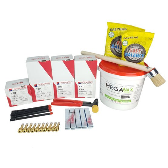 Vulcanization kit for trucks, for tires swap Nr1 (clip on weights, adhesive weights and other) - Stix